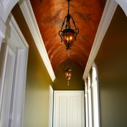 Hallway with Barrel Ceiling and Lighting