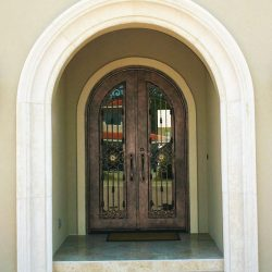 Cutom Door Remodel - Curved Entrance and Foyer