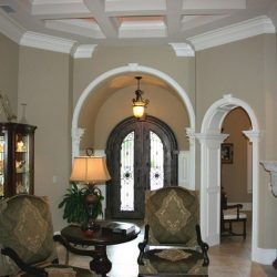 Great Room Renovation - curved archways