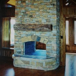Fireplace Renovation - Stone - Two-Way Access