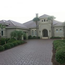 Custom Home Design - Stucco with Clay Roofing