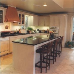 Kitchen Remodel - Copper Vent - Granite Countertops